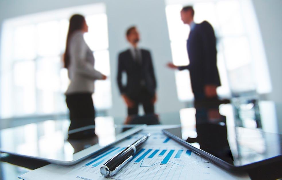 Reunión de ejecutivos de empresa