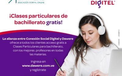 Conexión Social Digitel y Dawere ofrecen de forma gratuita clases particulares de bachillerato