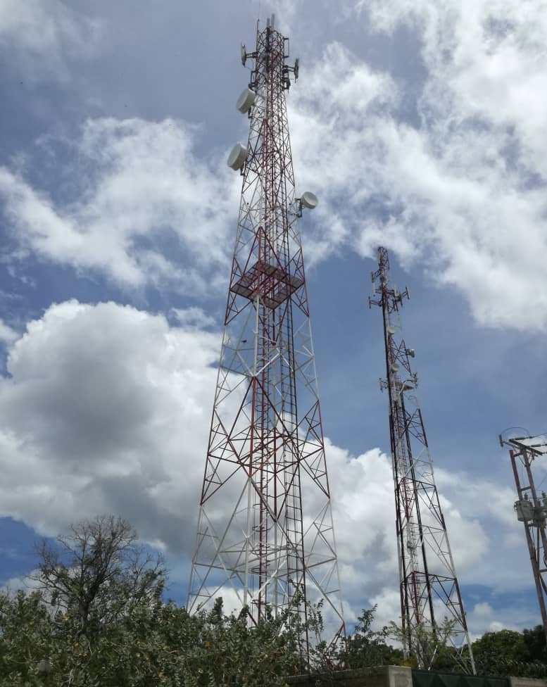 Se observa antena Digitel